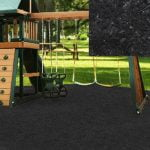 Playground Recycled Rubber Mulch Black 72.5-75 cu ft