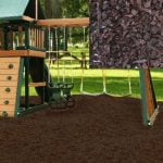 Playground Recycled Rubber Mulch - Chocolate Brown 72.5-75 cu ft