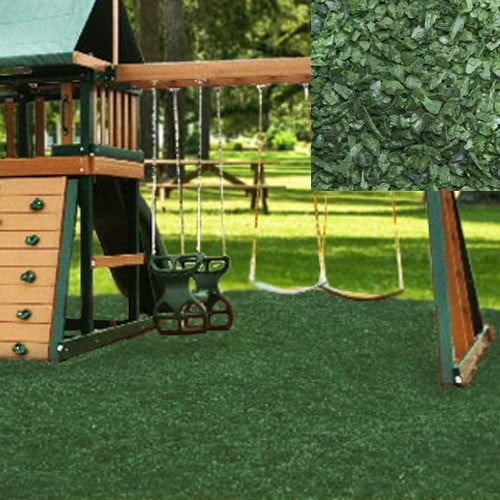 Playground Recycled Rubber Mulch Green 72.5-75 cu ft