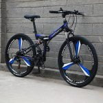 Bike Black and Blue - 3 Blade Wheel