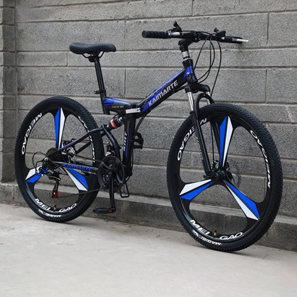 Bike Black and Blue - 3 Blade Wheel