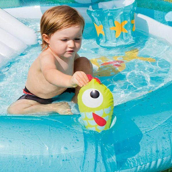 Toddler Playing in Backyard Baby Pool