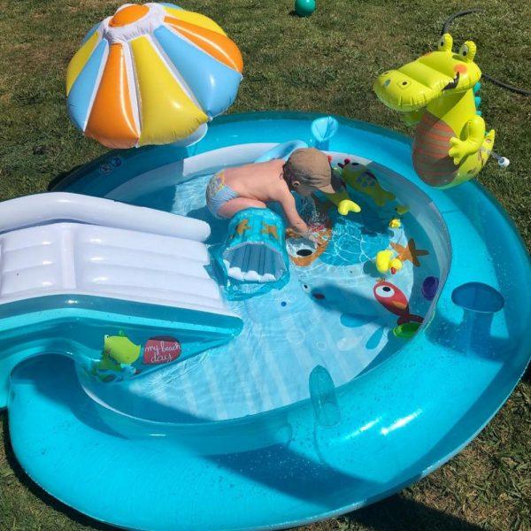 Backyard Baby Pool with Slide