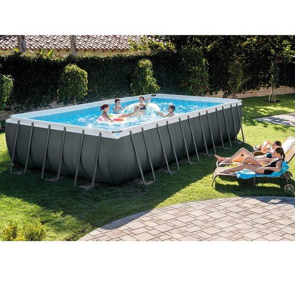 Backyard Party in Intex Backyard Pool
