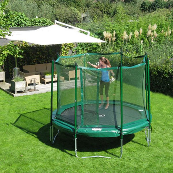 12' Jump Free Trampoline with Magic Circle Enclosure
